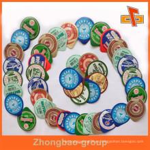 Venta al por mayor de Guangzhou Zhongbao al por mayor personaliza el grado de la comida cortó las cubiertas de la hoja de las tazas del yogur