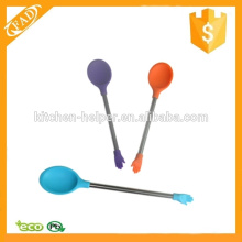 New Arrival Silicone Baby Kids Feeding Spoon