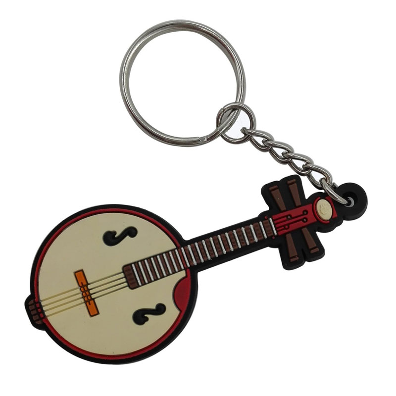 Music Themed Novelty PVC Music Keychains