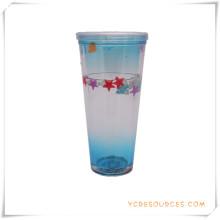 Taza escarchada de la pared doble Taza de cerveza congelada del hielo para los regalos promocionales (HA09073-3)