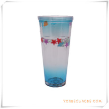Tasse givrée à double paroi Tasse à bière glacée congelée pour cadeaux promotionnels (HA09073-3)