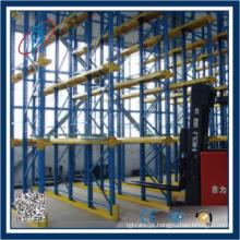 Paletes de alta qualidade racking armazenamento pesado FIFO drive in rack