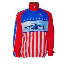 Frauen Bike Jersey Langarm USA Style (CYC-10)