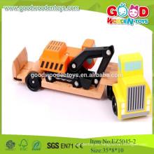 Pala de madera 2015New, buenos juguetes de los vehículos, coche de madera natural para los cabritos