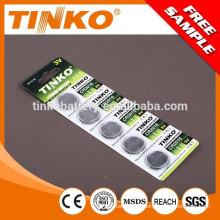 Pila de botón de manganeso de Litio CR2016