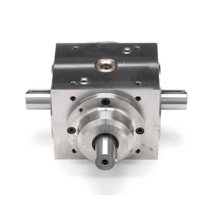 Custom Steel Power Takeoff 4 Way Bevel Gearbox