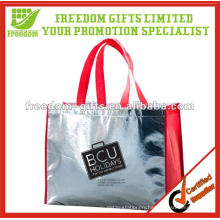 Most Fashionable Shiny Metallic Look PP Woven Tote Bag