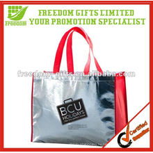 Самый модный блестящий металлический вид Сплетенный PP мешок tote