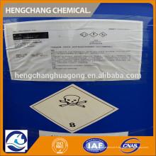 Industrie chimique Pureté de 28% Ammoniac brut Eau