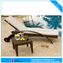 HK-outdoor wicker double seat rattan chaise lounge CF1216H+CF1216ST