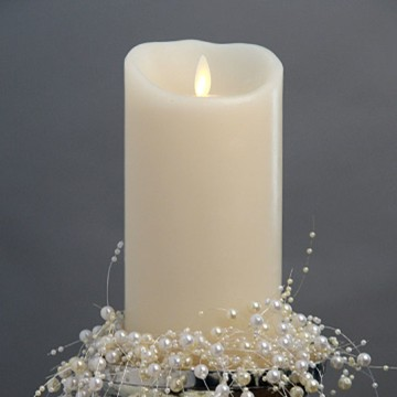 ivory luminara pillar candle