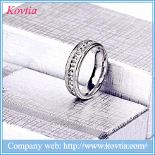 Jewelry pave diamond rings titanium steel wedding ring men ring stainless