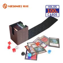 Caixa clássica da plataforma do jogo de mesa do couro do plutônio