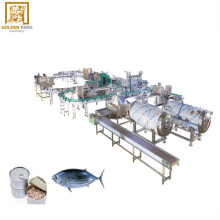 factory sardine canned fish processing line