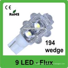 Светодиодный теплый белый свет 501 T10