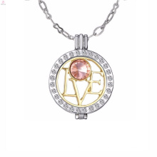 Wholesale stylish stainless steel display coin disc locket pendant