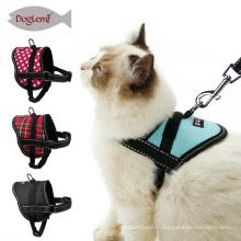 Nouveaux produits réfléchissants pour le collier et la laisse d'animal familier de harnais mou de chat