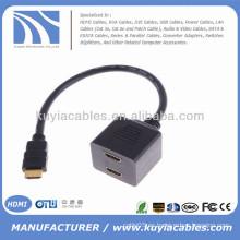 HDMI macho a 2 HDMI cable adaptador hembra divisor