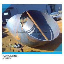 Coude de soudage en acier au carbone A516 Gr70 de 66 po avec 10 mm de largeur