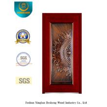 Porta de aço de segurança para entrada com arte de ferro (b-8002)