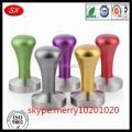 ISO9001 pass handle aluminum base sus304 coffee tamper 58mm