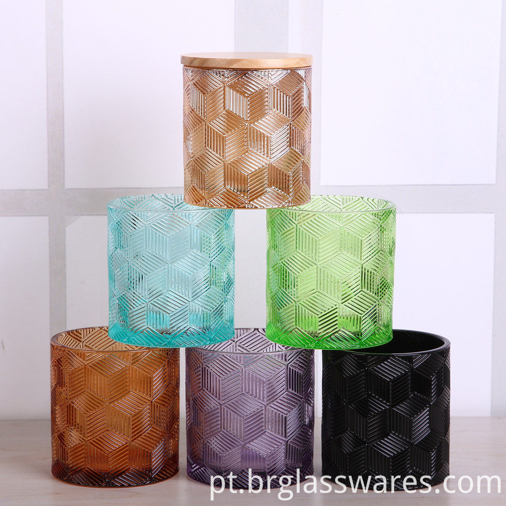 colored glass candle jar 1