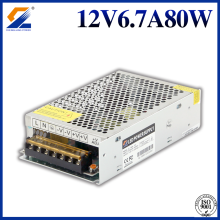 12V 80W Switching Power Supply For LED Strip