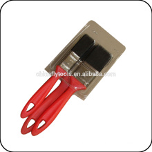 3 pcs black bristle wooden handle chip paint brush