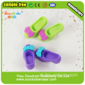 SOODODO 3D Fancy Snowman Shaped Eraser voor studenten