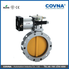 High quality powder pneumatic butterfly valve, butterfly valve,pneumatic butterfly valve