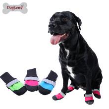 3 Farbe Pet schuhe Wasserdichte Oxford Quilt Oberen Anti Slip Leder Sohle Hund Stiefel Für Hunde und Welpen