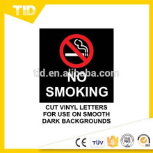 Non fumeur dans le véhicule, étiquette réfléchissante, terre noire