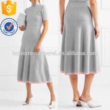Midi Skirt manta de lã com nervuras SkirtManufacture atacado moda feminina vestuário (TA3016S)