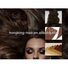 Extensões brasileiras remy virgens do cabelo do grampo da fonte quente da categoria do AAAAA