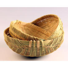 High Quality Handmade Natural Bamboo Fruit Basket (BC-NB1018)