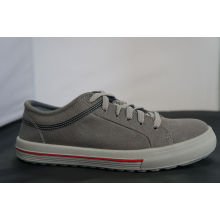Light Coffee Steel Toe Cap Canvas Safety Shoes With Non-slip