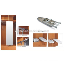 hotel ironing with iron board and cabinet ironing board