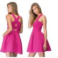 Fabrik Soem-neue Art- und Weiseelegante Flecken-Arbeits-Frauen-Kleid