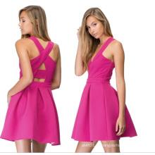 OEM fábrica nova moda elegante remendo trabalho mulheres vestido