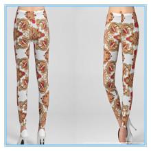 Nahtloses Designed Digital Print Leggings Nylon Spandex Material