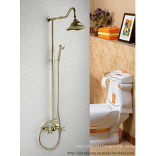 Golden Plated Bathroom Bath Faucet (MG-7358)