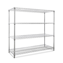 4 layers chrome wire shelves metal wire shelves for storage/organizer