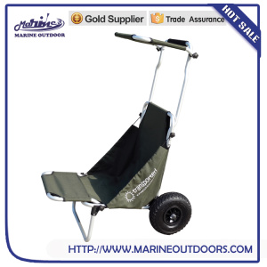 Trolley with wheels, Folding aluminum beach cart, Practical fishing chair