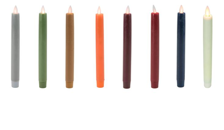 real wax taper candle color