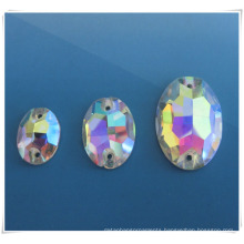 2014 Fashion Oval Ab Glass Stone for Sewing Cloth