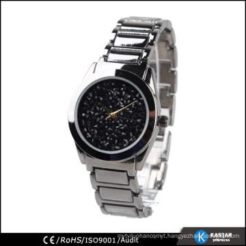 glitter dial face bracelet man watches, quartz watch advance