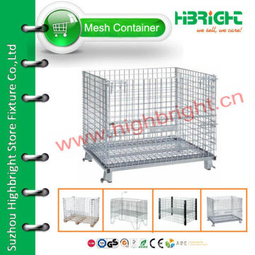 stackable storage wire mesh cage container