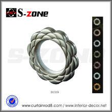 Petits anneaux d'oeillet de rideau en plastique de 51mm exquis
