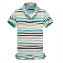 Short Sleeve Striped Polo Private Label Polo Shirts (PS-056)