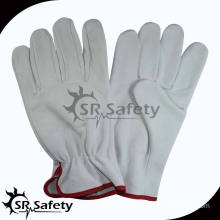 SRSAFETY full cow grain leahter gloves /best quality driving leather gloves,china supplier